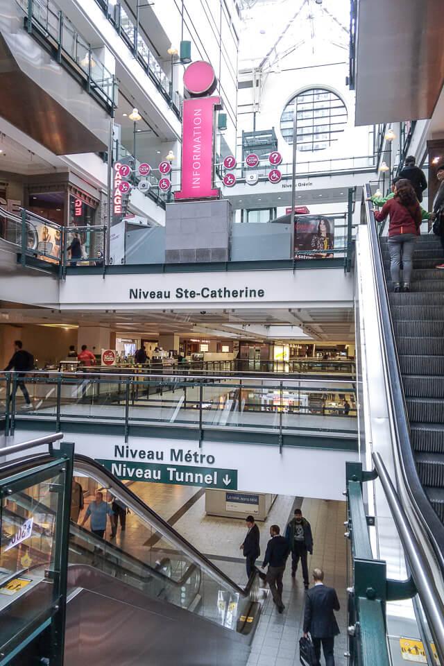Onde fazer compras em Montreal? Eaton Centre