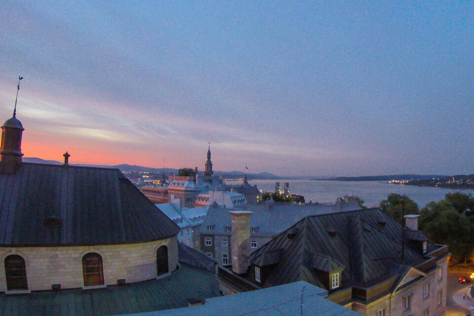 Roteiro de 3 dias em Quebec com por do sol