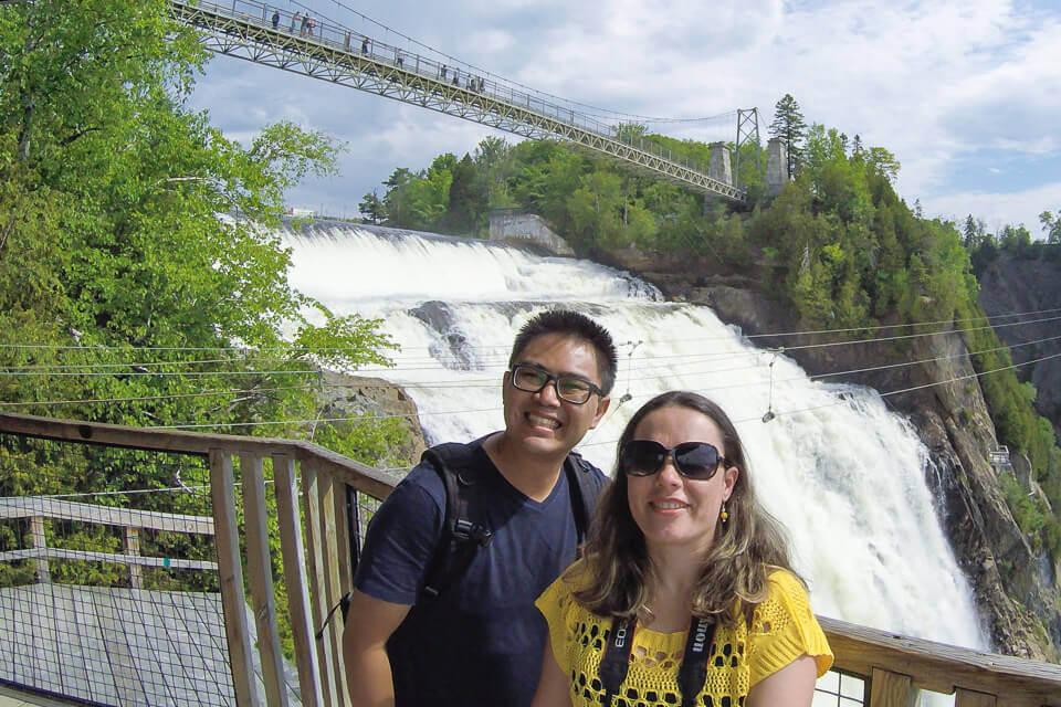Mirante na base do zipline Montmorency Falls