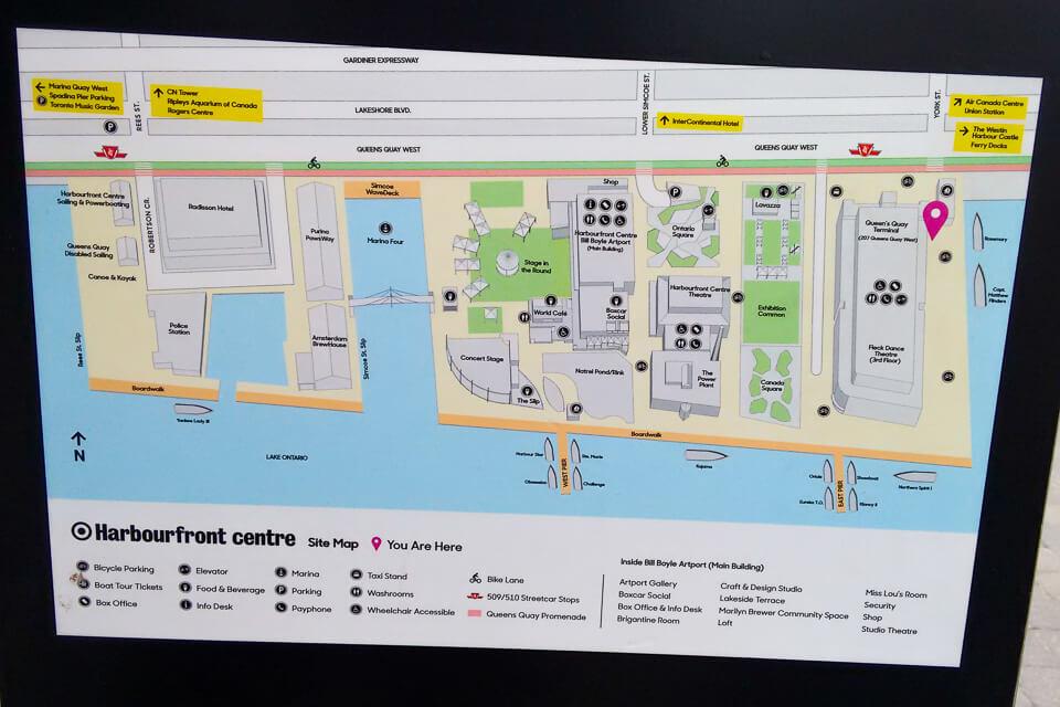 mapa de Harbourfront Centre