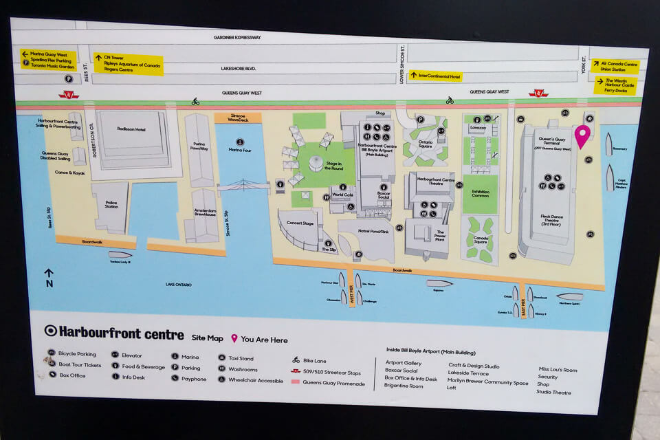 mapa de Harbourfront Centre