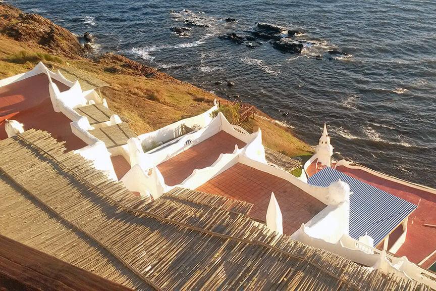 Por do sol na Casapueblo em Punta del Leste Uruguai