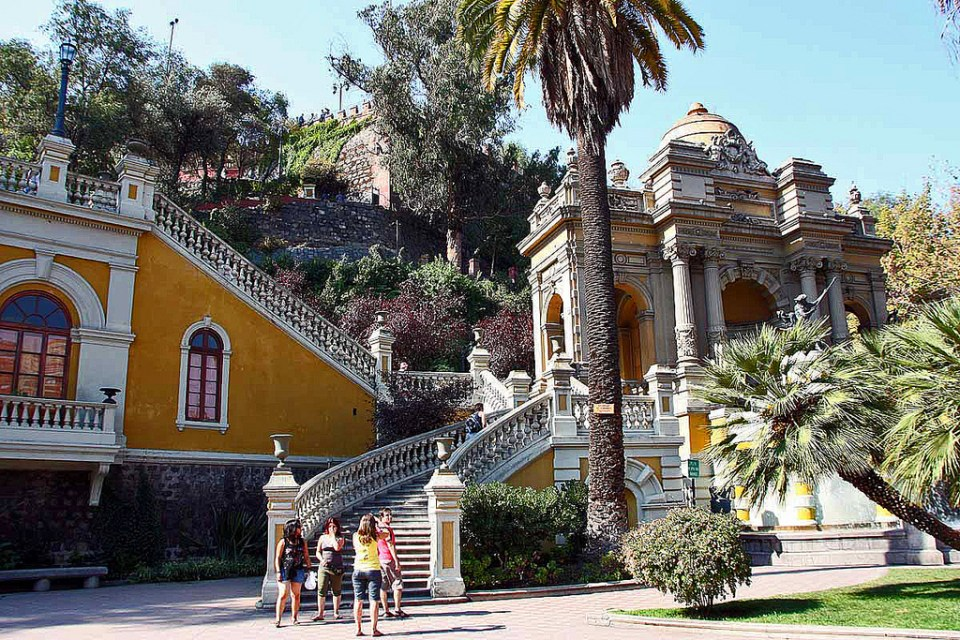 Principais pontos turísticos de Santiago - Cerro Santa Lucía