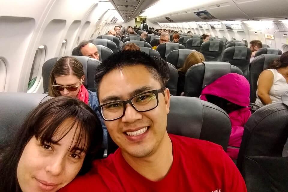 Como é o voo da Sky Airlines de Santiago para o Atacama