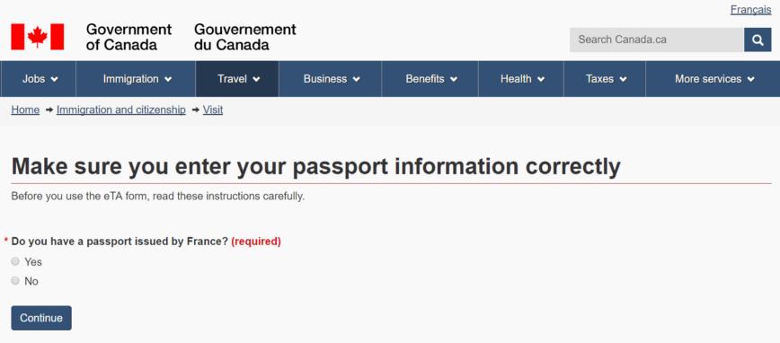 Como solicitar a Autorização Eletrônica de Viagem - eTA para o Canadá