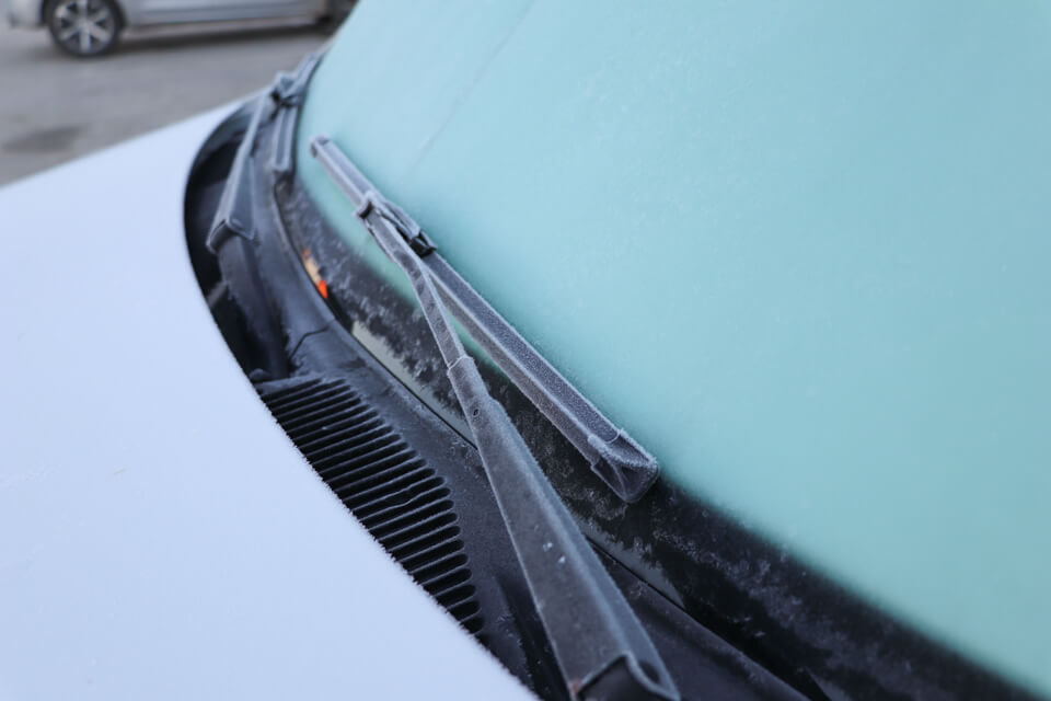o carro congelou