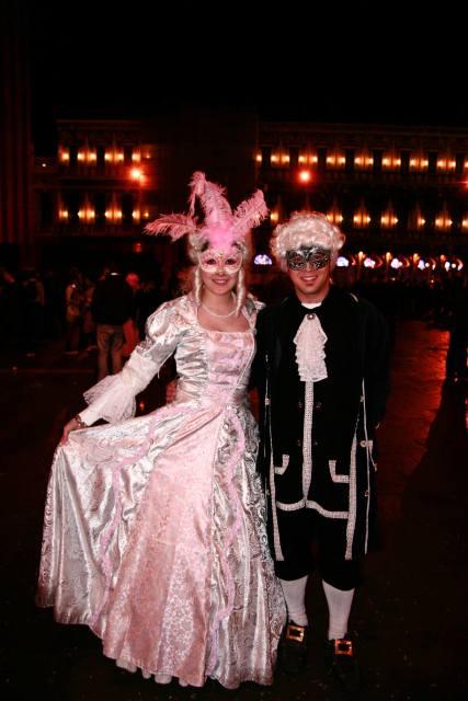 Fantasias do carnaval de Veneza