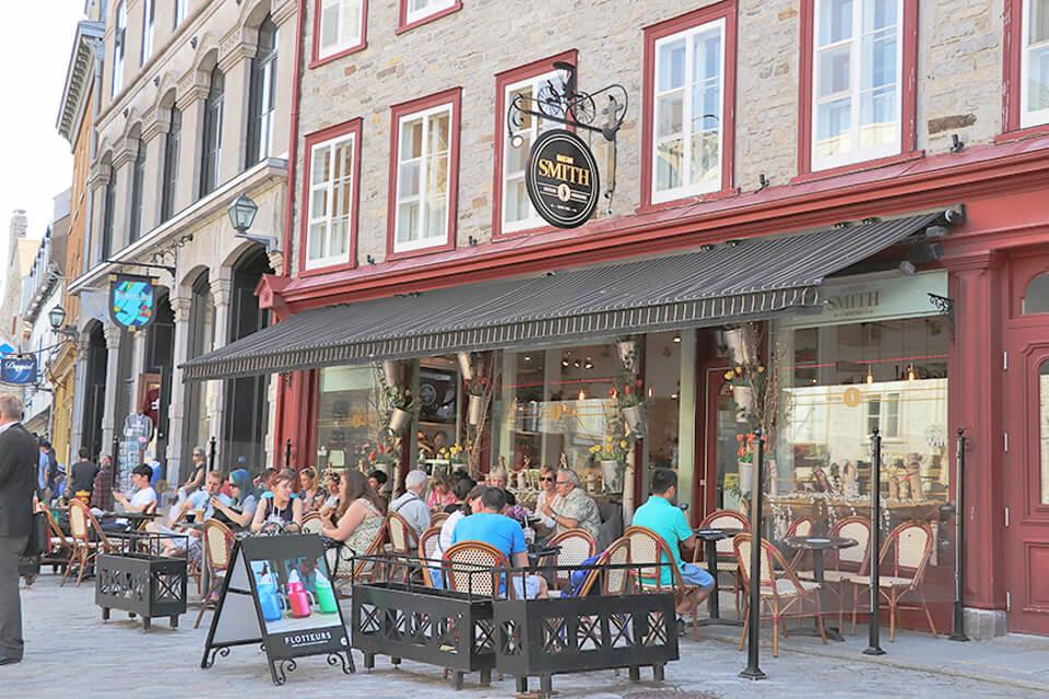 Onde comer em Quebec? Cafeteria da Place Royale
