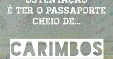Ostentação é ter o passaporte cheio de carimbos