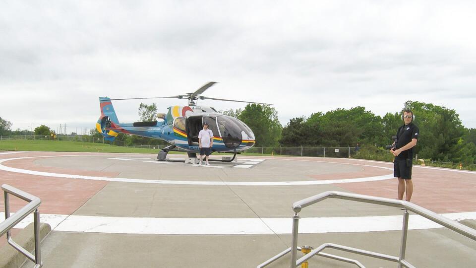 Passeio de helicóptero nas Cataratas de Niagara