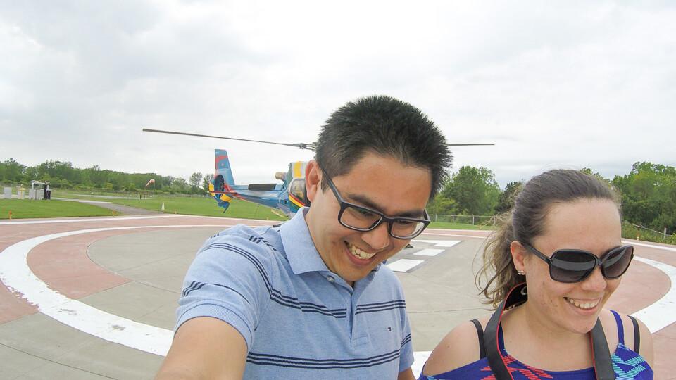 Passeio de helicóptero no Canada em Niagara Falls
