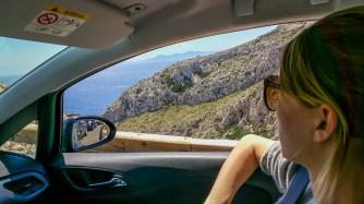 Auf der Bergstraße kurz vor Cap de Formentor