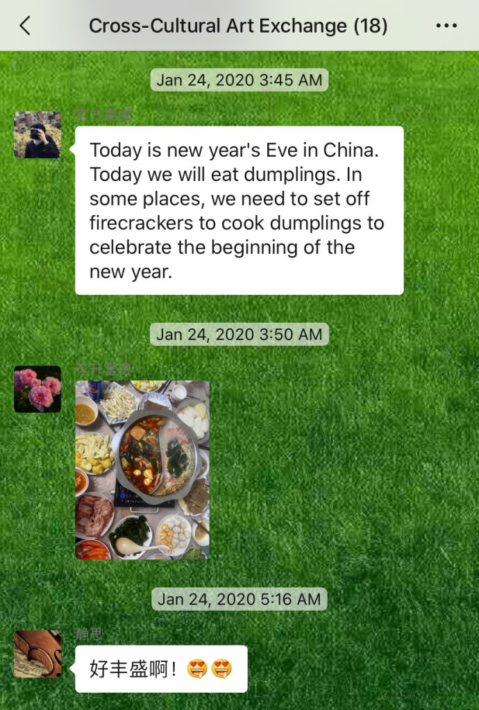 Weekly Conversations – Chinese New Year's Eve