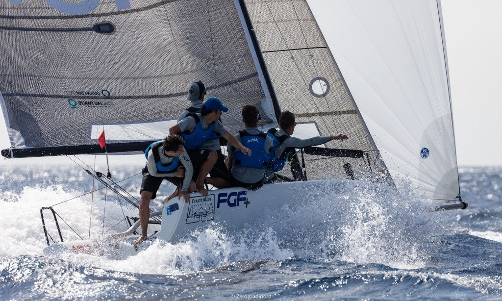 FGF Sailing Team HUN728 with Robert Bakoczy in helm is on the third position after three races in Villasimius. - Photo ©IM24CA/Zerogradinord