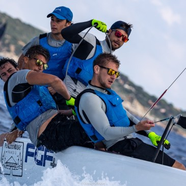 FGF Sailing Team HUN728 is stepping strongly on the current leader Bombarda's toes, and with the score of 2-1-2 is the Boat of the Day on Day Two of the Melges 24 Pre-Worlds in Villasimius - photo ©IM24CA/Zerogradinord