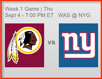 week one for NFL