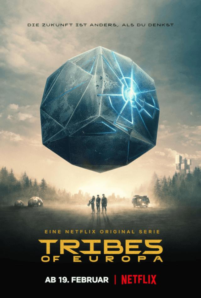 pôster oficial da netflix da 1ª temporada de tribos originais da ficção científica