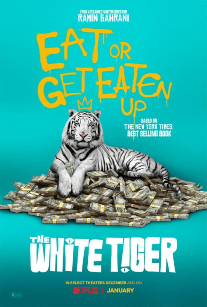 o pôster do tigre branco netflix