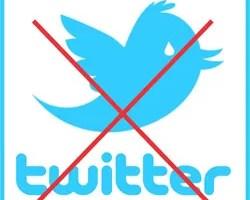 Excluir conta Twitter