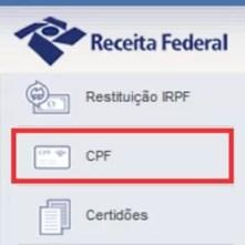 Tirar CPF Internet grátis