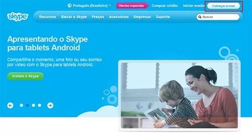 Criar Skype Começar a usar