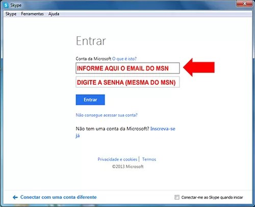 Entrar Skype Messenger