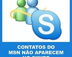Contatos MSN não aparecem Skype