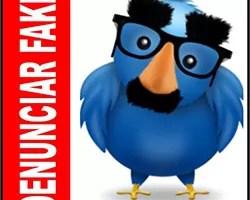 Denunciar fake falso Twitter