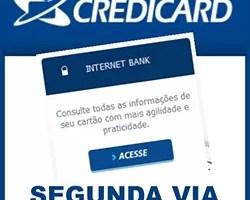Tirar 2 via Credicard fatura cartão