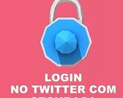 Twitter Login Segurança