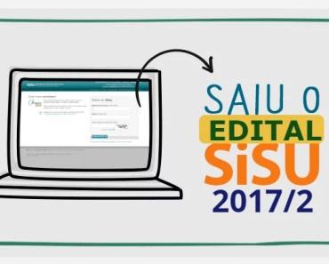 edital sisu 2017 segundo semestre