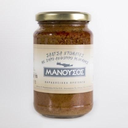tomato sauce with anthotyro cheese