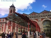 This is the entrance to the Ellis Island Museum.