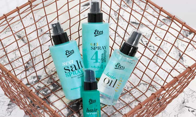 Etos Hair Oil, Hair Serum, Sea Saltspray & Gelspray