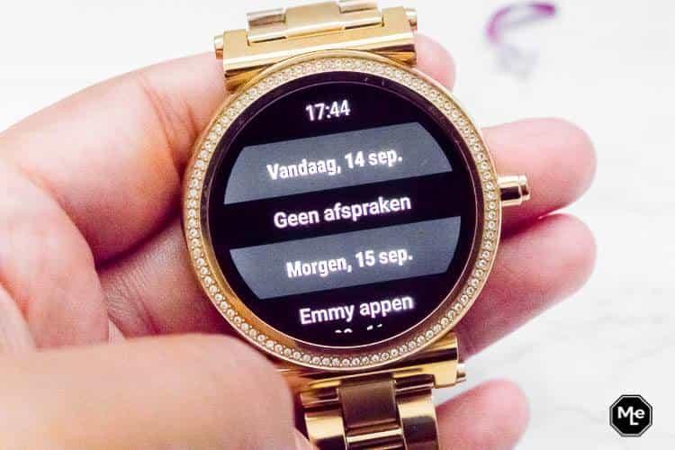Michael Kors Acces Sofie smartwatch - agenda