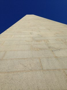 Bunker Hill Monument seen from the bottom