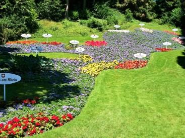 Floral representation of Lake Konstanz