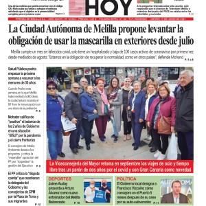 Melilla Hoy, jueves 17 de junio de 2021