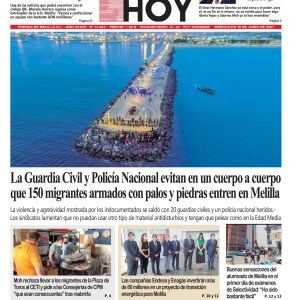 Portada Melilla Hoy 16 de junio