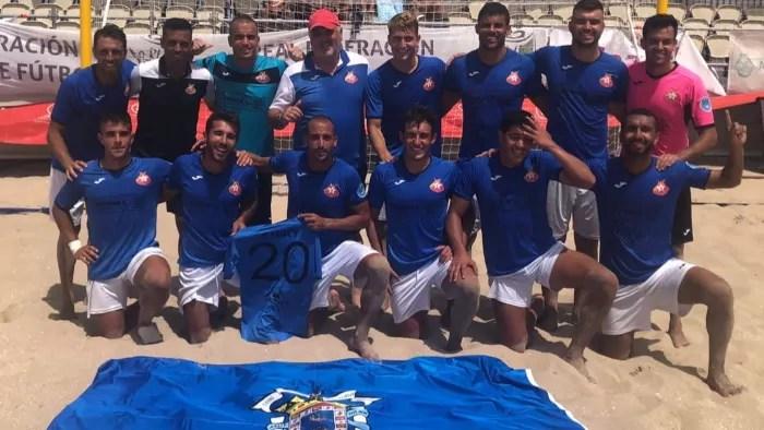 Futbolistas y cuerpo técnico del C.D. Melistar