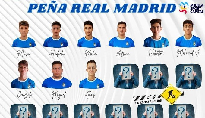 El Melilla Sport Capital Peña Real Madrid