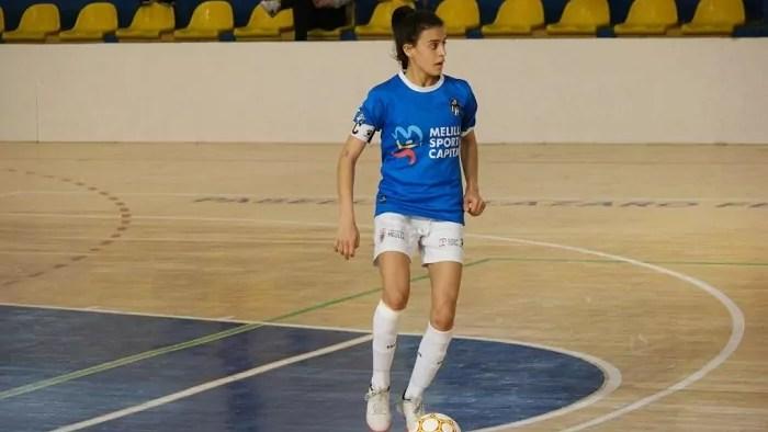 Lubna lleva desde la fundación del club defendiendo el negro y blanco del Torreblanca