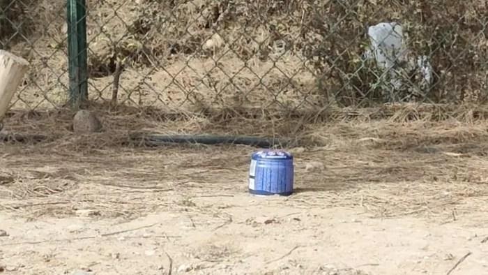 Botellas de camping gas tiradas en zonas naturales