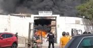 incendio del almacén de construcción de Melilla
