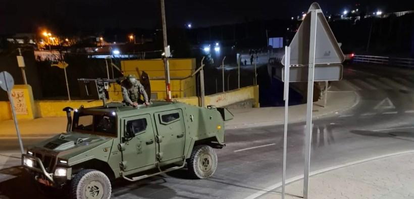 Militares en la frontera de Melilla