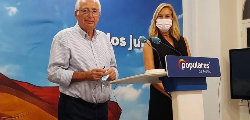 Ana Beltrán y Juanjo Imbroda