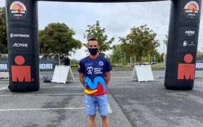 Edu Calderay tras el IronMan