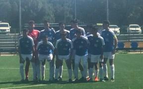Formación del Jóvenes Promesas en el encuentro de ayer ante el Cádiz C.F