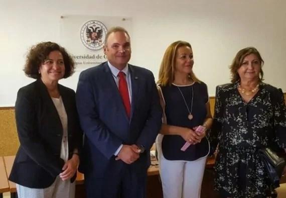 La rectora con los decanos de las tres facultades de Melilla