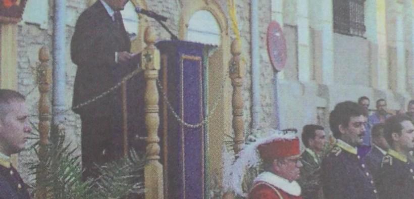 Mustafa Aberchán en el discurso del Día de Melilla